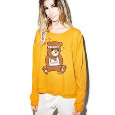WILDFOX SUMMER BEAR SZ SMALL NEW SWEATER New Wildfox Sweaters