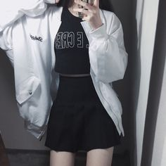 ↠Black&White↞ Fashion, style, asian style, asian fashion, korean style, korean fashion, k-style, k-fashion, ulzzang, kpop, ootd, dailylook, lookbook, street style