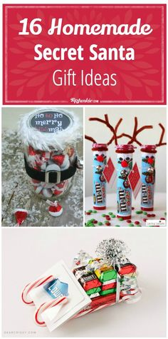 16 Homemade Secret Santa  Gift Ideas via @tipjunkie                                                                                                                                                                                 More