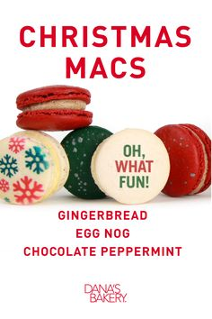 """""""Oh what fun!"""" Celebrate #Christmas with our holiday box of #macarons. Dana's Bakery macarons are gluten free, kosher & shipped fresh nationwide."""