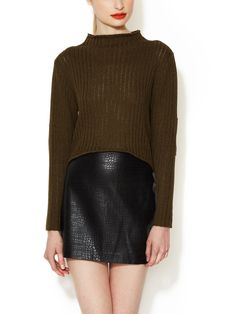 Brawn Sweater with Leather Elbow Patches from Dolce Vita on Gilt