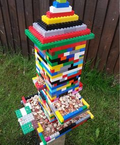 Ben Green's work colleague made him this bird feeder out of lego. How cool! #DailyPost
