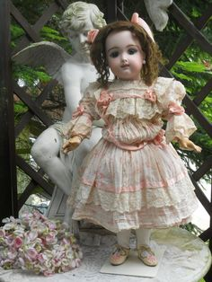 ~~~ Pretty French Bisque Eden BeBe in Lovely Costume ~~~