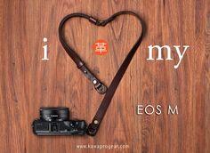 #Canon Canon Eos M mirrorless camera with KAWA XPLORER Neck and Hand Strap