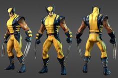 Wolverine.  game character design model 3d best game femail girl