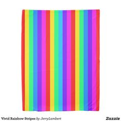 Vivid Rainbow Stripes Duvet Cover