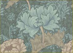 William Morris fabric and wallpaper Chrysanthemum