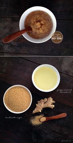 DIY: ginger coconut body scrub