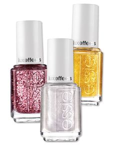 In A Cut Above, Sparkle on Top, and As Gold As It Gets, $9 each; essie.com.