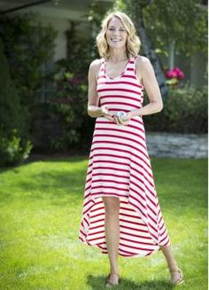 Made from Organic Bamboo, this Hi-Low dress has a much smaller environmental impact than pesticide laden conventional cotton and petroleum derived nylon and polyester synthetics. Bamboo is naturally pest resistant, requires little water, and grows up to a foot a day.  $90.00