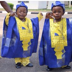 The Cutest Men Ever! When Boys Are Draped In African Fashion Attire; Ankara Styles For Kids, African Dresses For Kids, African Babies, Trendy Ankara Styles, African Children, African Clothes, Kente Styles, African Men Fashion, African Women
