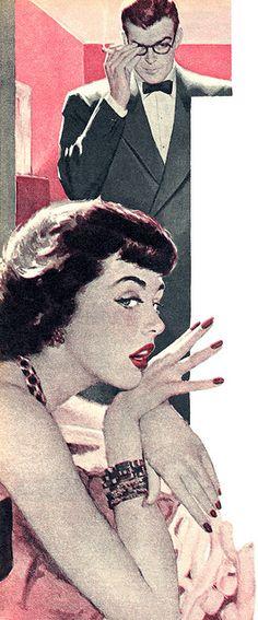 "► Roswell Keller - Illustration for ""Come Dance With Me"". Vintage Clip Art, Retro Art, Vintage Comics, Vintage Posters, Pin Up, Illustration Story, Vintage Couples, Vintage Romance, Commercial Art"