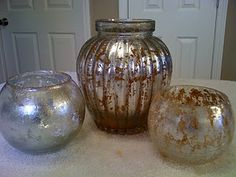 How to make Mercury Glass.  Excellent tutorial