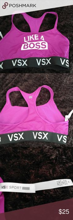 SEXY & Sassy in VSX by Victoria's Secret Couldn't say it better myself. Feel and act like a boss in this sports bra from Victoria's Secret whether you are at the gym or just sporting that athletic look. This bra will not disappoint. Victoria's Secret Intimates & Sleepwear Bras