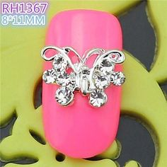 QINF 10PCS RH1367 Special Design Butterfly Luxury Rhinestone 3D Alloy nail art DIY Nail beauty Nail Decoration Nail Salon >>> Learn more by visiting the image link.