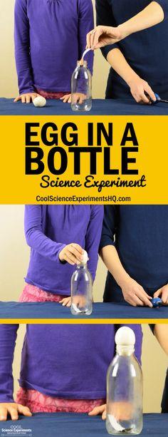 Egg in a Bottle Experiment Steps