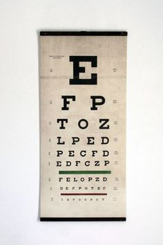 Eye Test Vintage Style Wall Art
