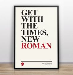Times New Roman. Typography Poster