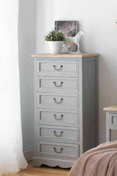 Alison 6 Drawer Chest of Drawers August Grove Wood Drawers, Small Drawers, Small Furniture, Quality Furniture, Furniture Making, Bedroom Furniture, 6 Drawer Chest, Dresser, Summer