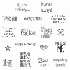 Something To Say Clear-mount Stamp Set by Stampin' Up!