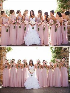 Simple A-line One-shoulder Floor-Length Pink Bridesmaid .- Einfaches A-Linie Eine-Schulter Bodenlanges Rosa Brautjungfernkleid mit Rüschen Simple A-line One-Shoulder Floor-Length Pink Bridesmaid Dress with Ruffle - Bridesmaids And Groomsmen, Wedding Bridesmaid Dresses, Bridesmaid Color, Bridesmaid Outfit, Wedding Gowns, Bridesmaid Bouquet, Light Pink Bridesmaids, Floral Bridesmaids, Wedding Bouquets