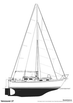 Specifications LOA: 27′ 0″ LWL: 22′ 11″ Beam: 8′ 8″ Draft: 4′ 3″ Displacement: 8,700 lbs Ballast: 3,500 lbs Sail Area: 379 sq. ft.  Headroom: 6′ 6″ Engine: 3 cylinder Yanmar Fuel: 45 US Gal. Water: 65 US Gal.  Designer: Robert B. Harris Builder: Tradewind Boats, Philbrooks Shipyard, Seair Marine Ltd (British Columbia, Canada)/Pheon Yachts, Northshore Yachts (UK) Year Introduced: 1972 Total Built: 250+  Also Known As: Vancouver 27F, Vancouver 274, Vancouver 28