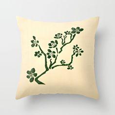 Green Flower Pillow Cover, $27