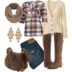a cold fall day outfit - Polyvore