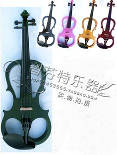 NEW 4/4  5 string BLACK  pink  ELECTRIC VIOLIN+CASE+BOW+EARPHONE+ROSIN
