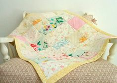 Patchwork Quilt   Upcycled Baby Quilt Blanket by babytogo on Etsy, $92.00