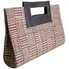Bolsa Carteira de Mão em Palha de Buriti com Alça Cores