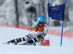Felix Neureuther of Germany in action during the Alpine Skiing Men's Giant Slalom. Sochi 2014 Day 13 - Alpine Skiing Men's Giant Slalom. © 2014 XXII Winter Olympic Games.