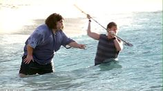 "1.04 ""Walkabout"" – [It's The Hurley and Charlie Show! They're trying to catch a fish for Shannon.] CHARLIE: You want me to have a go? HURLEY: Knock yourself out. Okay, here comes one. Put your weight into it. Can you see it? Wait for it, wait… NOW!! [Charlie lunges and misses. Hurley laughs.] Dude, you gotta  try to pin it. CHARLIE: You see how close I was? No, you said I had to corner it!"