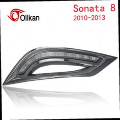 55.00$  Buy here - http://alic1t.worldwells.pw/go.php?t=32497470934 - Turn off and dimming style relay LED Car DRL Daytime Running Lights for  Hyundai Sonata 8  2010 2011 2012  with fog lamp