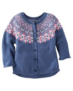 Toddler Girl Fair Isle Cardi from OshKosh B'gosh. Shop clothing & accessories from a trusted name in kids, toddlers, and baby clothes.