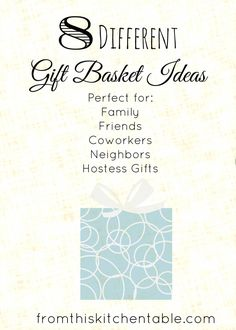 Homemade gift basket ideas perfect for family, friends, coworkers, hostess gifts. Great for Christmas or any time of the year. Homemade Gift Baskets, Food Gift Baskets, Homemade Gifts, Easy Gifts, Creative Gifts, Cool Gifts, Holiday Crafts, Christmas Crafts, Holiday Decor
