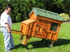 Wheel barrel chicken coop | Home Chicken Coops Coop Options Custom Sheds Rabbit Hutches Cupolas ...