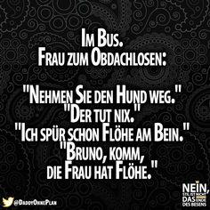 Szenen im Bus :D #Bus #Frau #Obdachlose #Flöhe #Vorurteile #Hunde #Tiere #Sprüche #Lustig  #Deutschland #lachen