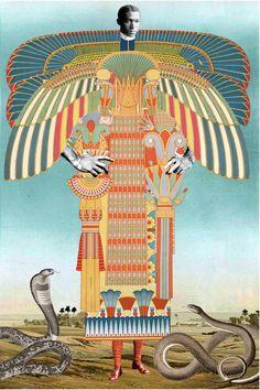 Fashion Illustration Collage, Illustration Art, Illustrations, Surreal Collage, Collage Artists, Collages, Magazine Collage, Affordable Art Fair, Egyptian Art
