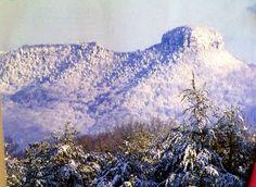 Pilot Mountain in NC, picture taken last winter