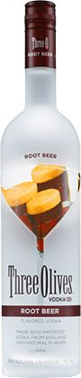Root Beer Floatini  11/2 oz. Three Olives® Root Beer Vodka  1/2 oz. Amaretto Liqueur  Shake hard over ice  Strain into glass  Float a melon ball-size scoop of vanilla ice cream in center