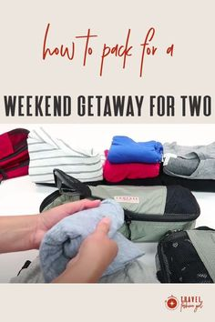 Headed on a weekend getaway for two people? Rather than overpack, you could use the packing cubes to organize your essentials and keep everything streamlined in one suitcase. Find out how! #TravelFashionGirl #TravelFashion #PackingList #weekendgetaway #howtopack #packingcubes Carry On Packing, Packing Cubes, Packing Tips For Travel, Weekend Trips, Weekend Getaways, Start Pack, One Suitcase, Short Trip, Packing Light