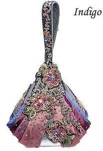 Mary Frances handbags | Details about Mary Frances Designer Handbag 'Indigo Indulgence' New ...