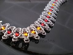Staggered Byzantine Chainmaille Braclet, Bollywood by way of Byzantine | daisykreates - Jewelry on ArtFire
