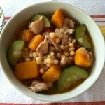 Chicken, Butternut Squash, and Zucchini Soup with Fregola Sarda