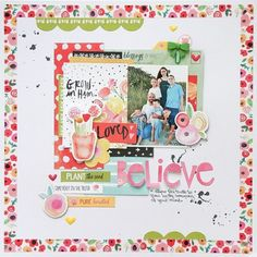 Using washi tape border-Believe collection- Bella Blvd - http://Scrapbook.com