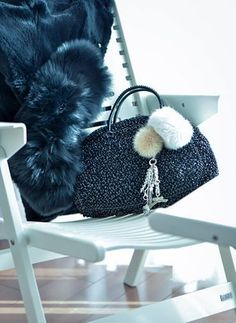 Rex Lounge in @snow-white with beautiful ANTEPRIMA bag and fur. Nice idea for Christmas maybe? — in Tokyo, Japan.