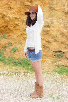 Look casual con sombrero y shorts vaqueros #kissmylook