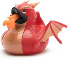 Shop unique Red Dragon Rubber Duck For Baby use like Bath Toy, King Arthur, Game of Thrones. It`s Made of vinyl Materials and Approximate Duck Size is W x 4 x Get great deals on Ducksinthewindow! Duck Memes, Quack Quack, Bath Toys, Red Dragon, Rubber Duck, Stores, My Room, Piggy Bank, Ducks