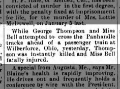 George Thompson killed attempting to cross train track in the Panhandle.